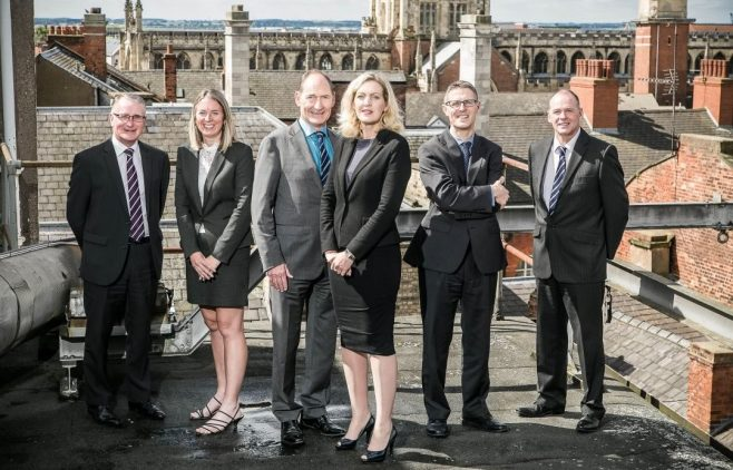 The Williamsons Solicitors directors: Brian Cook, Jane Cousins, Bill Waddington, Sarah Clubley, Nick Gray and Jim Suthers