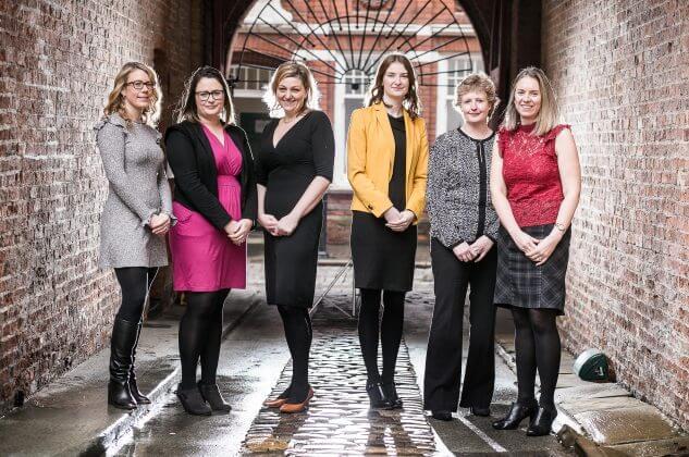 Lauren Hughes, Rebecca Bisby, Martina Baloch, Madeleine St John, Diane Ramsden and Jane Cousins.